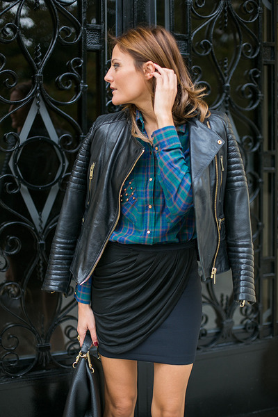 leather Mango jacket