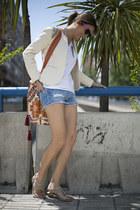 pull&bear jacket - kalma shorts - Zara shorts - knoackaround sunglasses