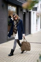 whiz dress - Zara boots - whiz coat - hakei bag - Tom Ford sunglasses