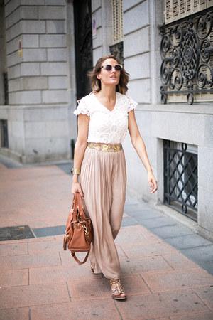 Zara skirt - SANDRO bag - Zara sunglasses - Sfera top - Zara belt