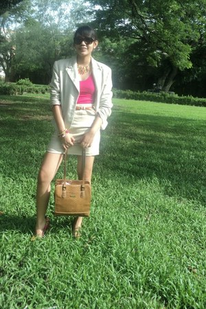 Style & Co blazer - liz claiborne bag - Ralph Lauren sunglasses