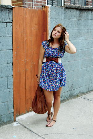 Forever 21 dress - Anthropologie belt - American Eagle shoes - Urban Outfitters
