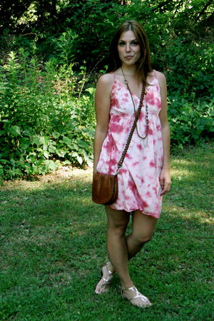 flea market dress - Old Navy shoes - H&M purse - Target necklace