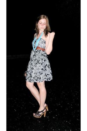 American Eagle dress - thrifted belt - Target necklace - Target shoes