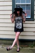 black flame Harley Davidson shoes - black crystals fashion sandals