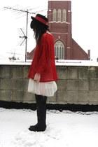 red see through vintage shirt
