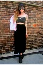 black velvet vintage skirt