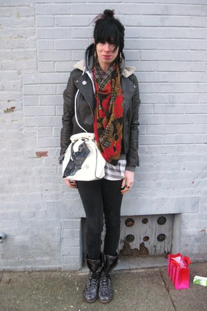 brick red equestrian vintage scarf