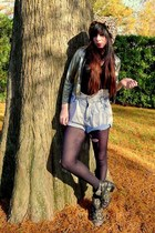 black floral Matiko boots