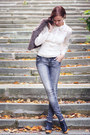 Lace-nishe-blouse-wood-jeffrey-campbell-boots-stradivarius-jeans