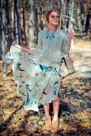 Chicwish sweater - Chicwish bag - Chicwish skirt - Dualshine necklace
