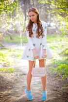Chicwish dress - asos bag - hickies stockings - Choies hair accessory