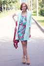 Abstract-print-laundry-room-dress-light-blue-lace-river-island-coat