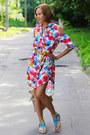Floral-print-asos-dress-ivory-fringe-mango-bag-turquoise-blue-bronx-flats