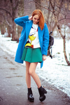 Mart of China boots - Choies coat - Choies sweater - Choies skirt