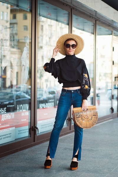Sheinside blouse - Tularosa jeans