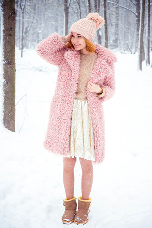 Choies coat - Chicwish dress - Sheinside sweater