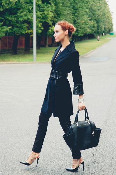 Love Republic coat - Diane Von Furstenberg bag - Love Republic pants