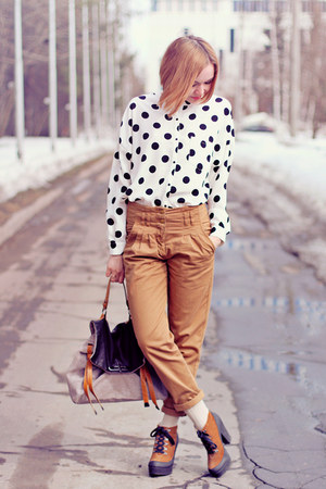 nowIStyle blouse - asos boots - asos bag - mustard asos pants