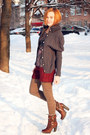 Crimson-nowistyle-shorts-dark-gray-wool-knit-and-cute-cardigan