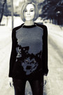 Animal-print-asos-sweater-black-leather-nowistyle-leggings