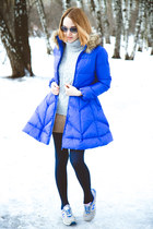 Chicwish sweater - Choies coat - Chicwish shorts