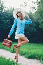 blackfive hat - Chicwish bag - Chicwish shorts - blackfive blouse