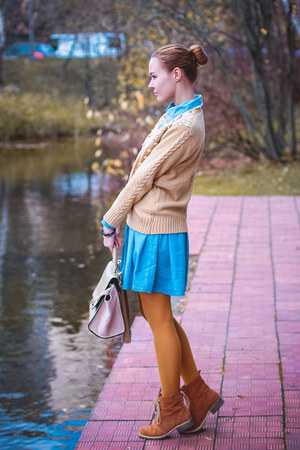 Chicwish sweater - Choies boots - Choies dress - Chicwish bag - Donna Yolka ring