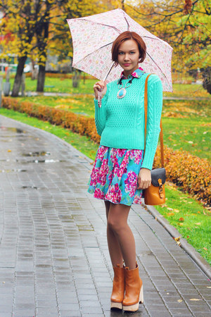 aquamarine knitted knit and cute sweater - light orange Jeffrey Campbell boots