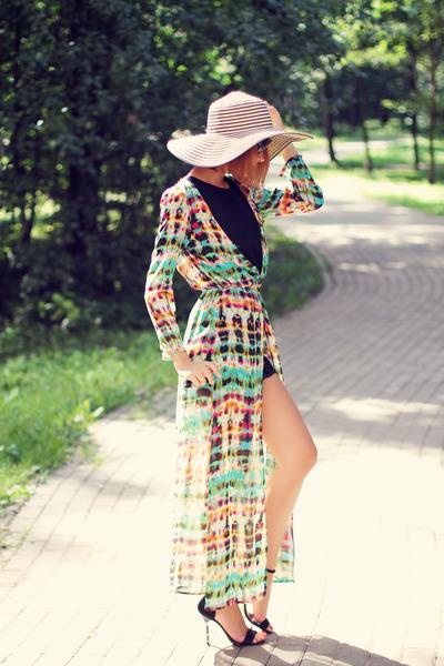 Sheinside cardigan - zeroUV sunglasses - nowIStyle suit - black Fabi heels