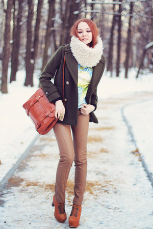 Udobuy boots - WOAKAO coat - Chicwish sweater - asos scarf - PERSUNMALL bag