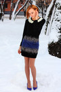 Nowistyle-skirt-nowistyle-cardigan-blue-h-m-heels