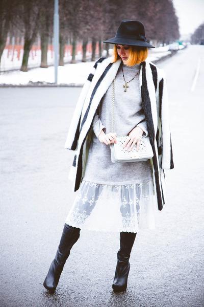 asos coat - Kate-Katy dress - style moi bag