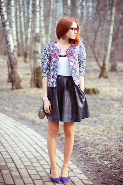 Vesst jacket - Religion bag - asos skirt - zeroUV glasses