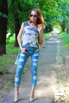 Sheinside jeans - PERSUNMALL bag - zeroUV sunglasses