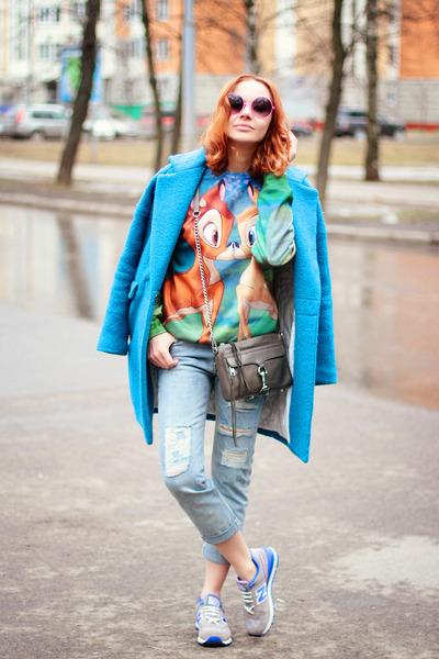 Choies coat - Fusion sweater - Rebecca Minkoff bag - New Balance sneakers
