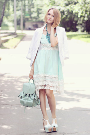 light blue Chicwish dress - light blue Chicwish bag - light blue asos heels