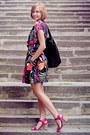 Floral-print-motel-dress-black-cotton-reiss-bag-magenta-asos-heels