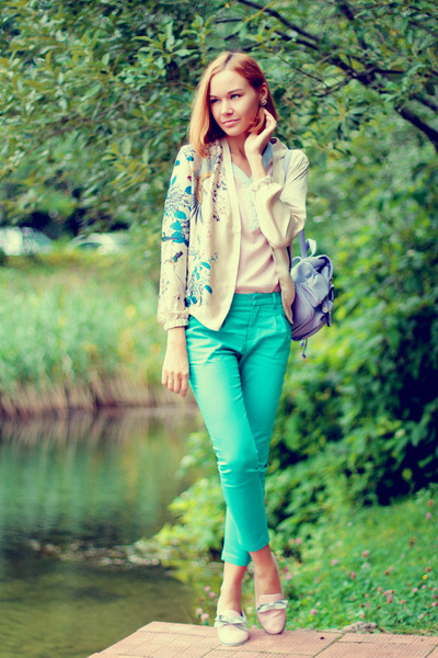 Sheinside jacket - Chicwish bag - Zlz pants - Sheinside blouse