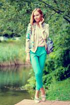 Sheinside jacket - Chicwish bag - Zlz pants - Sheinside blouse