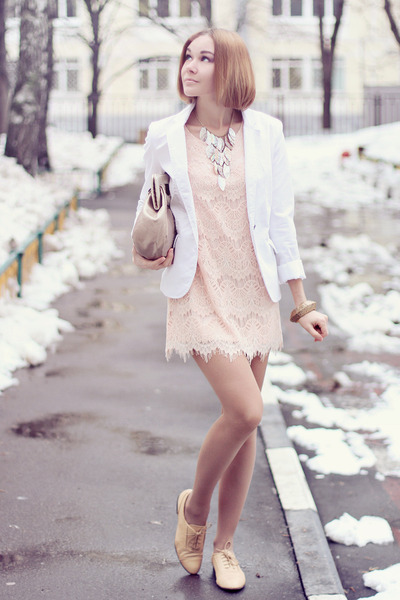 reserved jacket - nowIStyle dress - jess rizzuti bag - Zara flats