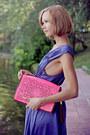 Hot-pink-river-island-bag-light-purple-silk-selected-dress