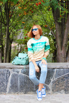 Mr Gugu & Miss Go sweater - Choies jeans - Chicwish bag - zeroUV sunglasses