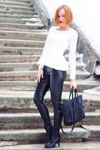black nowIStyle bag - white nowIStyle top - black asos pants