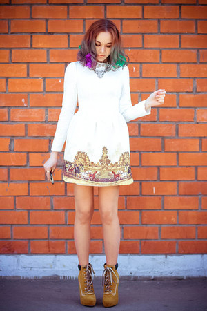 BangGood necklace - tbdress boots - Chicwish dress - Zero Gravity iphone case