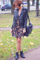 black leather jacket nowIStyle jacket - black asos boots