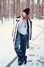 asos coat - Brian Lichtenberg hat - Front Row Shop pants