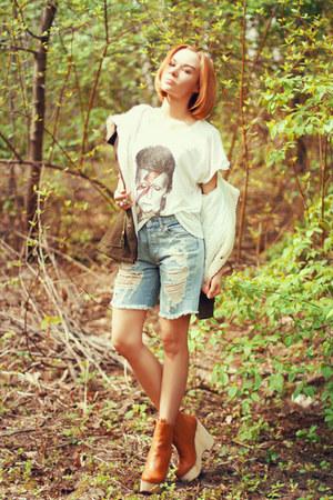 Sheinside coat - Selected t-shirt - Zara Taylor ring