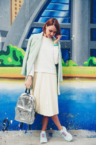 Sheinside coat - Young Hungry Free bag - Sheinside sweatshirt - Chicwish skirt