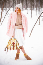style moi coat - Sheinside sweater - jas mb bag - Sheinside skirt